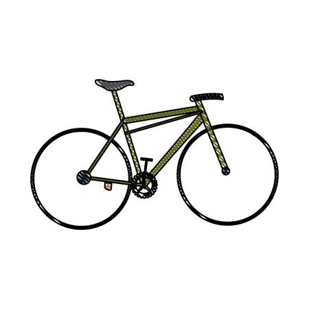 drawing bicycle sport transport equipment vector illustration Illustration