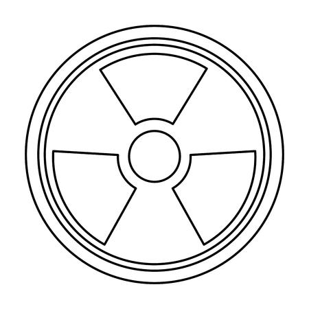 caution chemistry: radiation caution hazard nuclear symbol vector illustration
