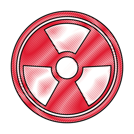radiation caution hazard nuclear symbol vector illustration