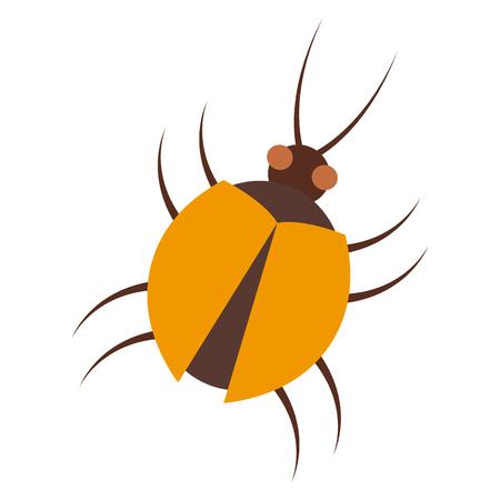 pc: virus bug hacking computer software vector illustration