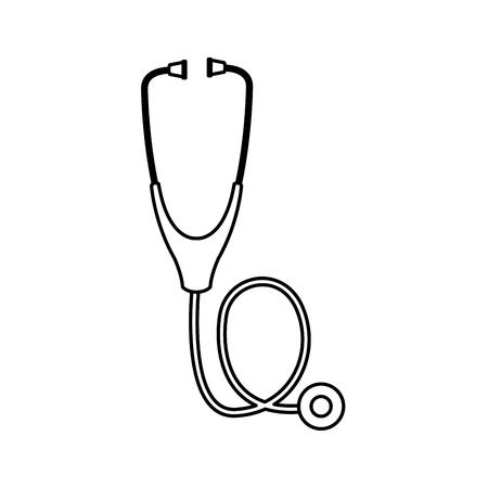 computer stethoscope assistance detection system vector illustration Illustration