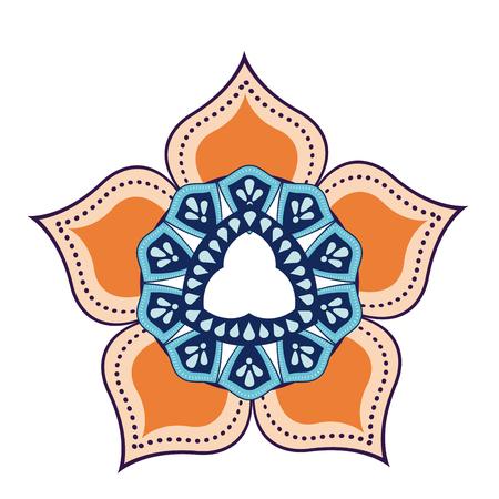 oriental vector: mandala decoration spiritual oriental. mystical ornament element vector illustration