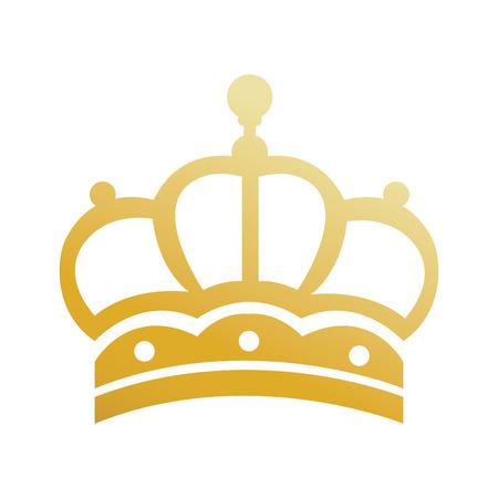 elegant gold crown luxury ornament jewelry vintage vector illustration Illustration