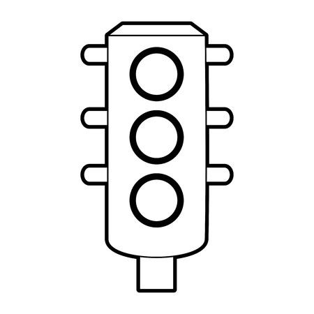 sketch silhouette image traffic light element of street vector illustration Illustration