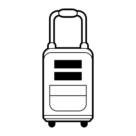 handgrip: sketch silhouette image travel suitcase with handle vector illustration Illustration