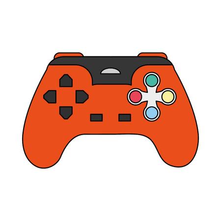 color image cartoon control video games vector illustration