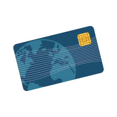 paying: credit card plastic business bank paying vector illustration