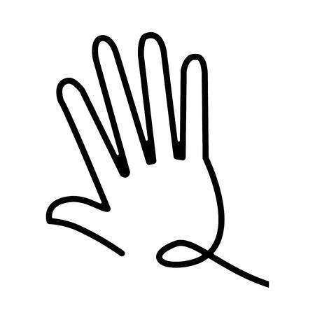 hand gesture stylized line symbol vector illustration