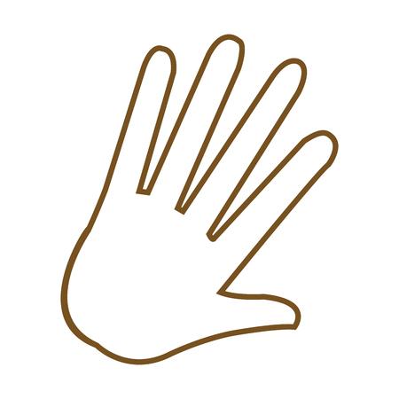 hand palm human symbol image vector illustration