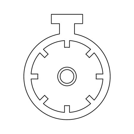 sportwatch 時間タイマー クロノメーター表示ベクトル図