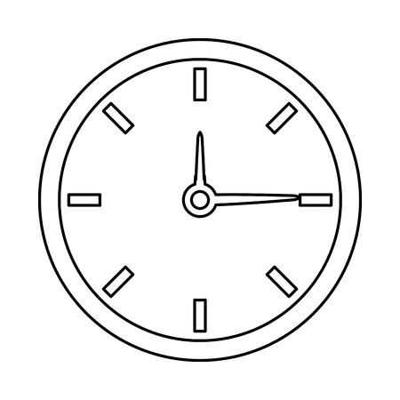 cronologia: clock time watch hour date minute vector illustration