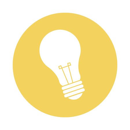 electricity bulb light energy power icon vector illustration