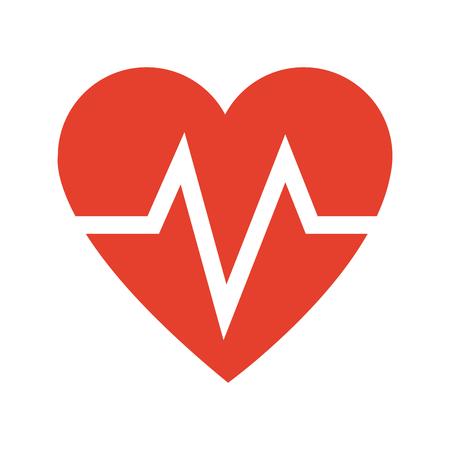 medical technology: heart beat health care medical vector illustration Illustration
