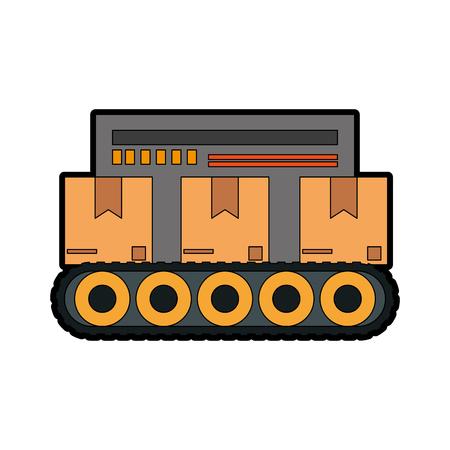 assembly line industrial machine icon image vector illustration design Illustration