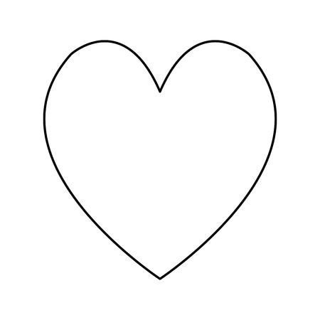 cute bear: heart love romantic adorable cute line vector illustration