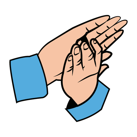 applauding: hands man clapping, applause gesture vector illustration Illustration