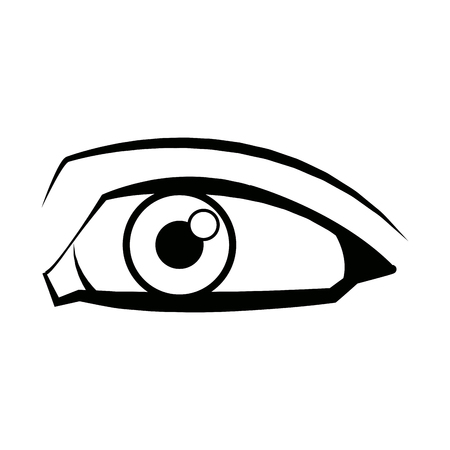 comic eye look optical style vector illustration