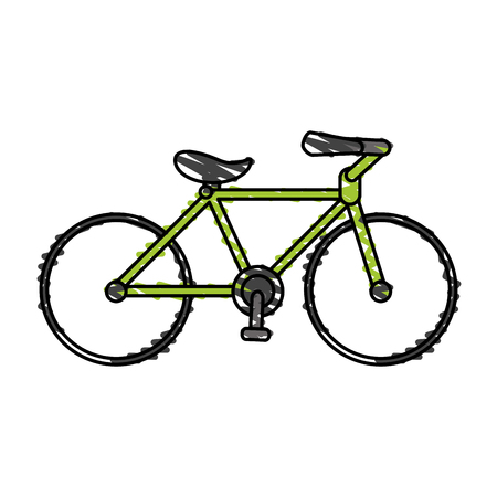 rack mount: color crayon stripe cartoon sport bicycle transport vector illustration Illustration