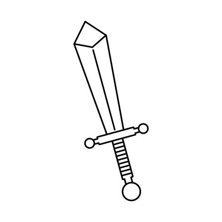 cartoon sword weapon war metal comic vector illustration