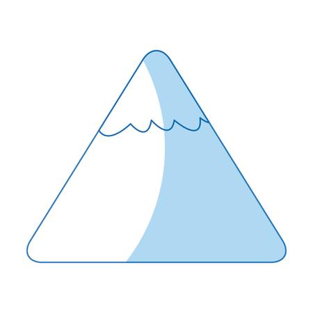 cartoon mountain snow nature image vector llustration