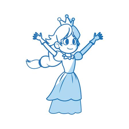 comic princess fairy tale character image vector illustration