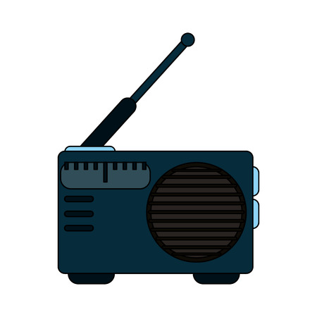 receiver: white background with portable radio vector illustration