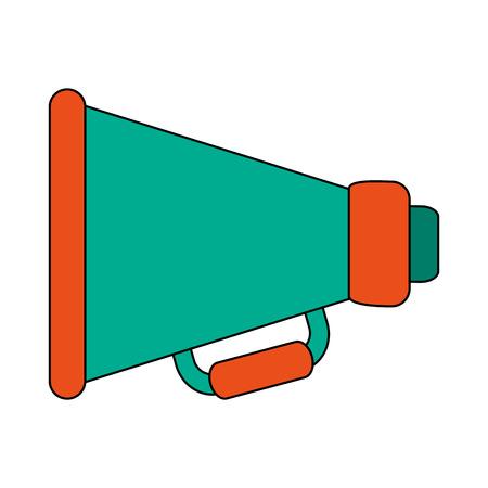 white background with megaphone symbol vector illustration