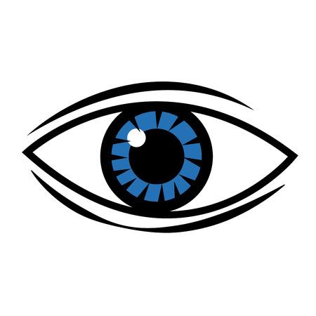 human eye vision optical design image vector illustration Illustration