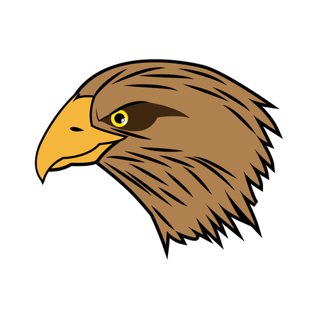 cartoon head bald eagle bird national american vector illustration Illustration