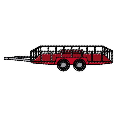 hauling: dump trailer cargo transport shipping image vector illustration