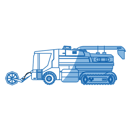 seeding: agriculture vehicle concept - cultivation seeding and harvesting packing and transportation vector illustration