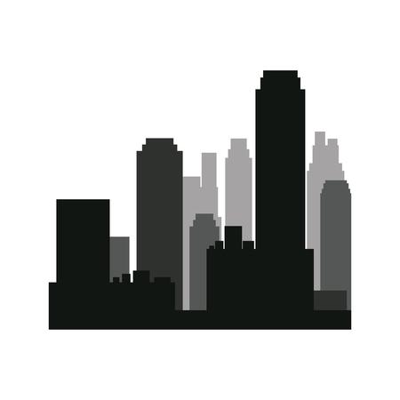 popular: buildings silhouette. urban landscape. american cityscape with landmarks. skyline background. vector illustration
