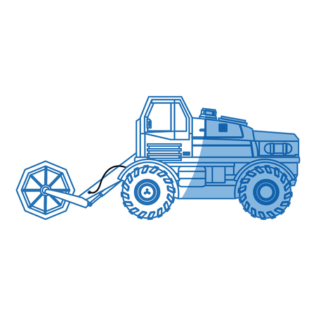 harvesting agriculture vehicle concept - harvesting packing and transportation vector illustration
