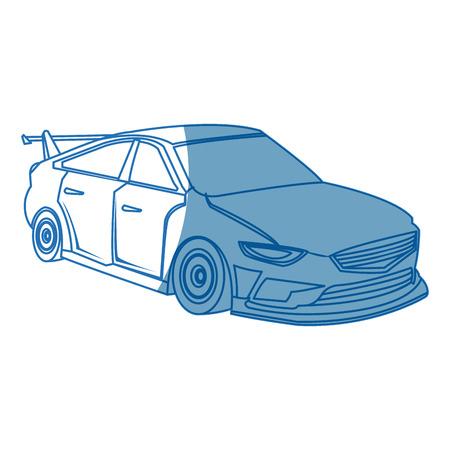 sport car. expensive sportcar technology auto style vector illustration Illustration
