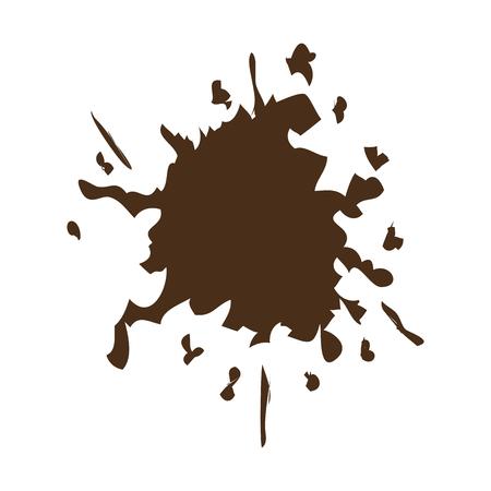 brown splash color paint explode image vector illustration Illustration