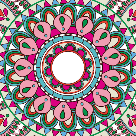 fabric textures: ornate abstract color mandala element. wallpaper, pattern fills, surface textures vector illustration
