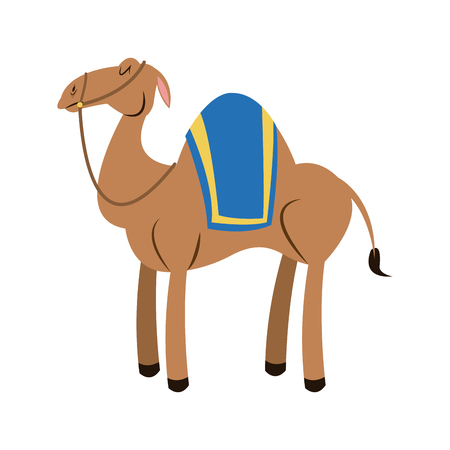 Camel animal nativity christmas traditional vector illustration