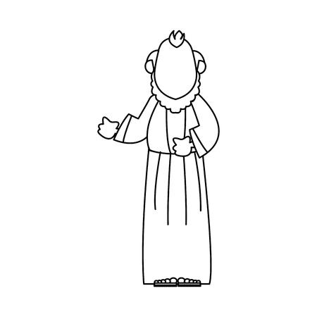 Oudere man herder christelijke karakter vector illustratie