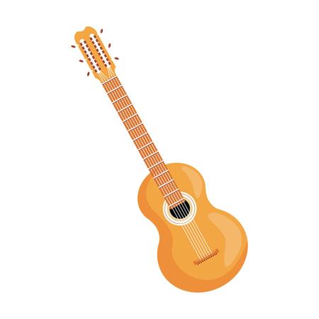 Guitar instrument Brazil music melody image vector illustration Illustration