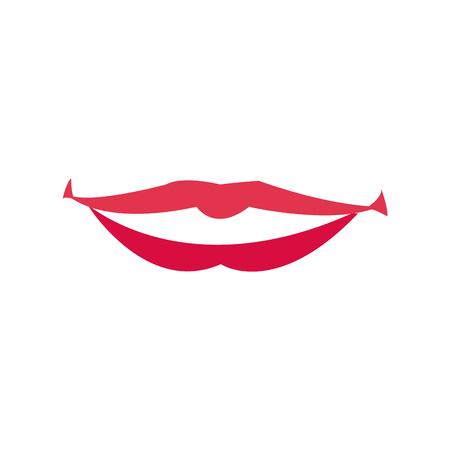 Lips woman mouth makeup lipstick vector illustration