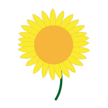 かわいい花ひまわり装飾自然ベクトル図