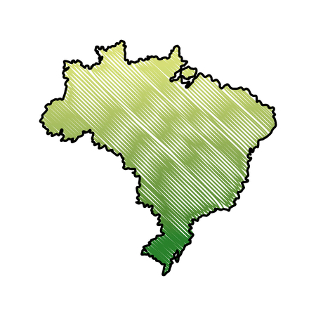 map of brazil cartography geography tourism travel vector illustration