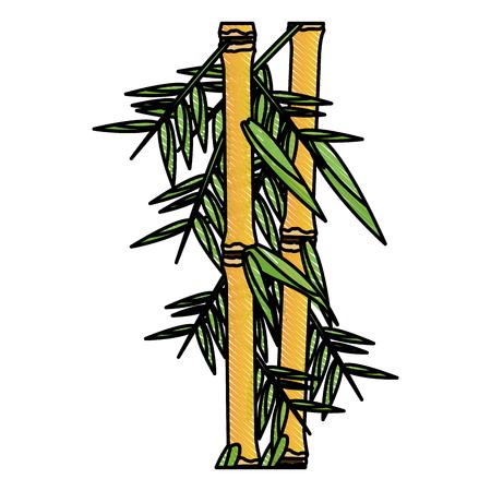 hojas de bambú fresco frontera, bosque botánico zen, decoración de spa tropical. ilustración vectorial