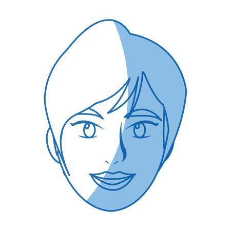 woman face portrait. beautiful spa model girl vector illustration