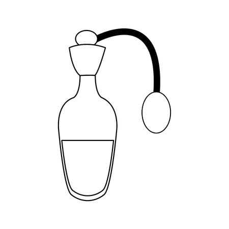 bottle of perfume or essence aroma spa care vector illustration