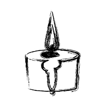 candle spa aromatherapy light treatment vector illustration Illustration