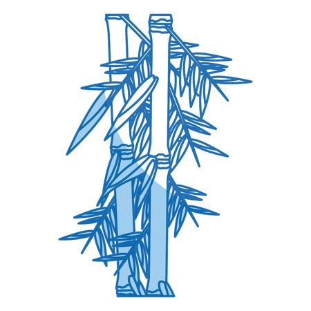fresh bamboo leaves border, botanical zen forest, tropical spa decoration. vector illustration Illustration