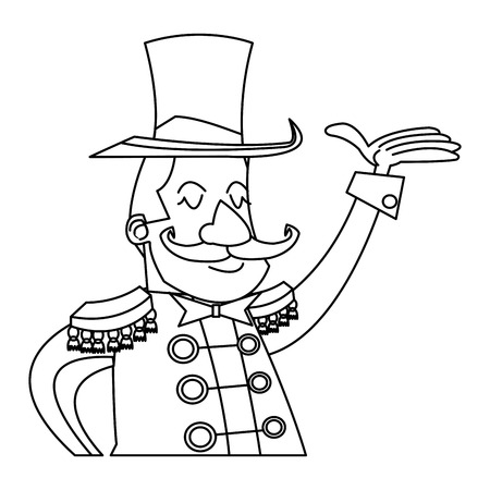 character man host circus show image vector illustration