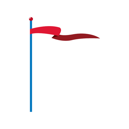 patten: circus red flag pole waving vector illustration
