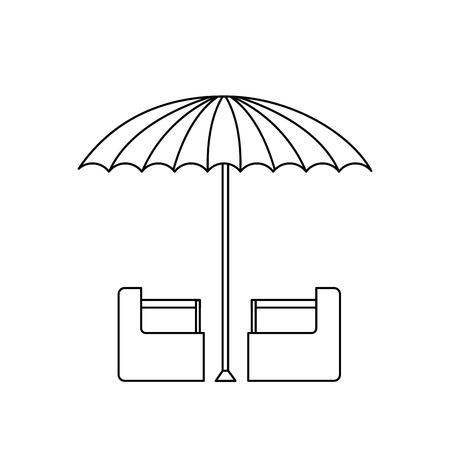 stage costume: green and white umbrella circus clown equipment vector illustration